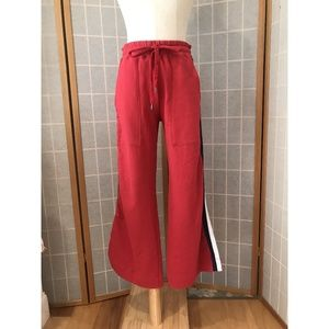 Sundry Red Sweats Cropped Wide Leg NWT Size 1/S